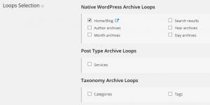 Views tutorials – WordPress Archive – Loop Selection