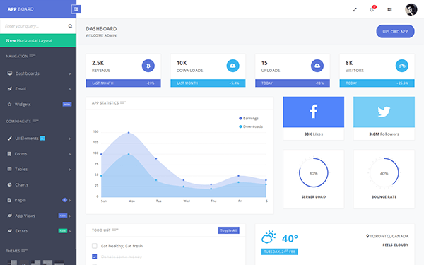 Web App Template. chatoo a application mobile website ... Brio Web App Bootstrap Admin Template Dashboard Free Download on