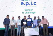 Amidst a million things a competition had to be won National Winners of TVS Credit E.P.I.C