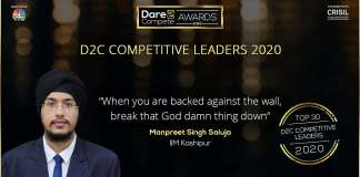 This is how Manpreet made IIM Kashipur proud | D2C Competitive Leaders 2020