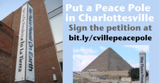 Put a Peace Pole in Charlottesville