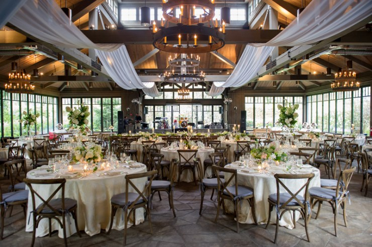 Rustic wedding setup at The Farm at Old Edwards.