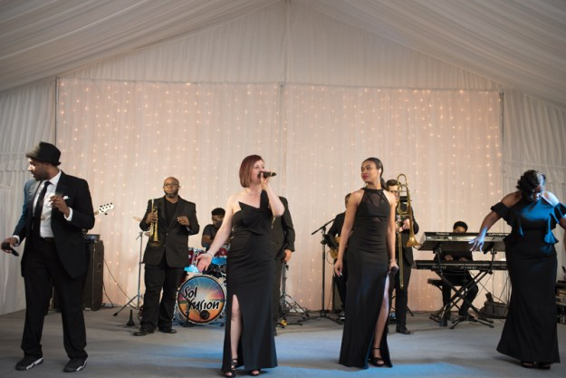 Sol Fusion band performing during a wedding reception at Diana at Biltmore.