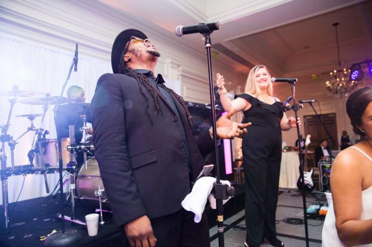 Punch band performing at Quail Hollow Club wedding.