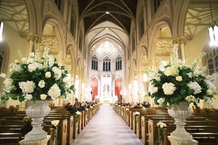 Wedding at Holy Name of Jesus Church in New Orleans