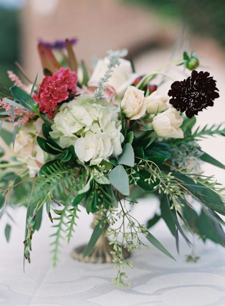Floral centerpieces at Dover Hall
