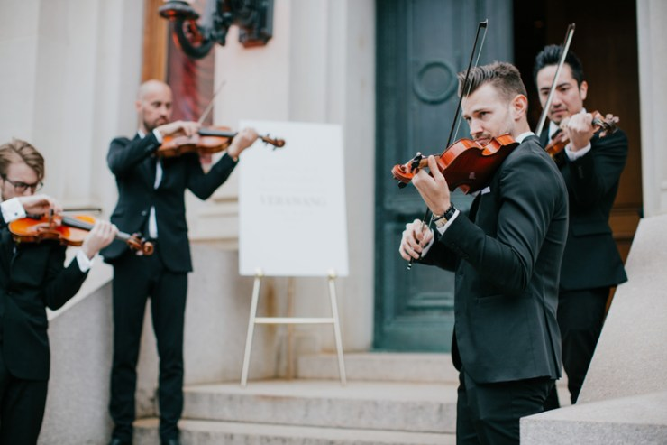 String quartet provided by EastCoast Entertainment for the Vera Wang Spring 2020 Bridal Collection Launch