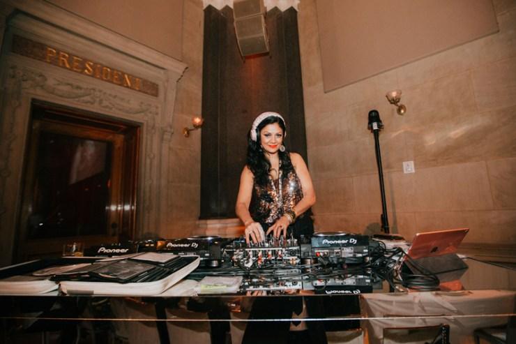 DJ at Vera Wang event at Weylin in Brooklyn, NY.