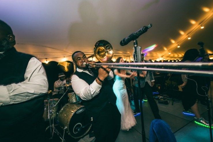 Right to Party band performing at Summerfield Farms wedding reception.