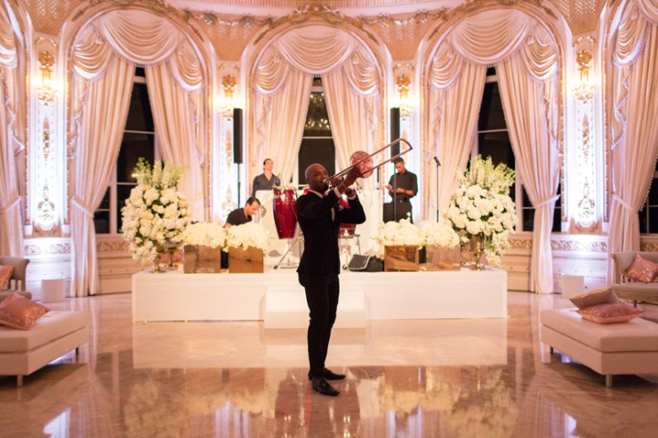 Palm Beach wedding band Powerhouse performing at Mar-a-Lago reception.