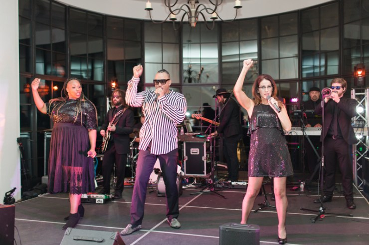 The Royals band performing during wedding reception at Kiawah Island Club.