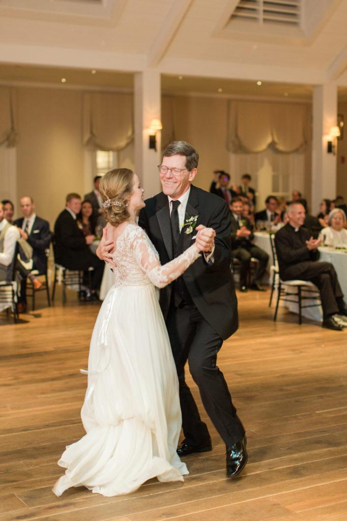 Father daughter dance during Kiawah Island Club wedding.