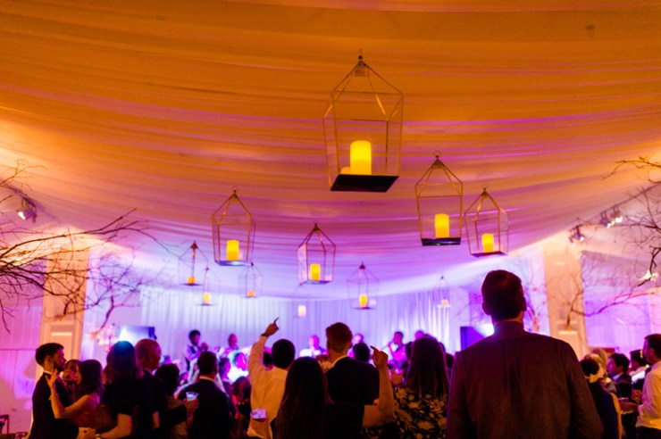 Party atmosphere during Roaring Gap Club wedding reception.