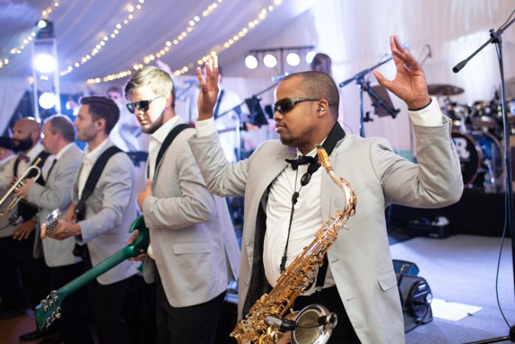 Bantum Rooster band performing during Biltmore wedding reception.