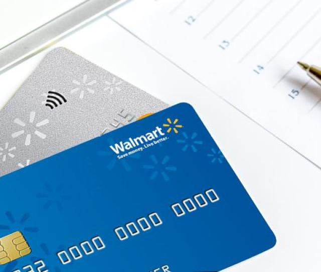 Showing Walmart Credit Cards On The Table