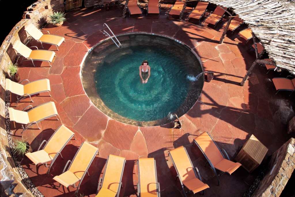 Kiva Pool at Ojo Caliente Mineral Springs Spa & Resort New Mexico