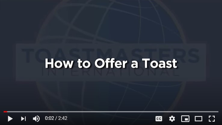 How to Give a Toast
