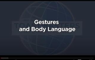 gestures body language