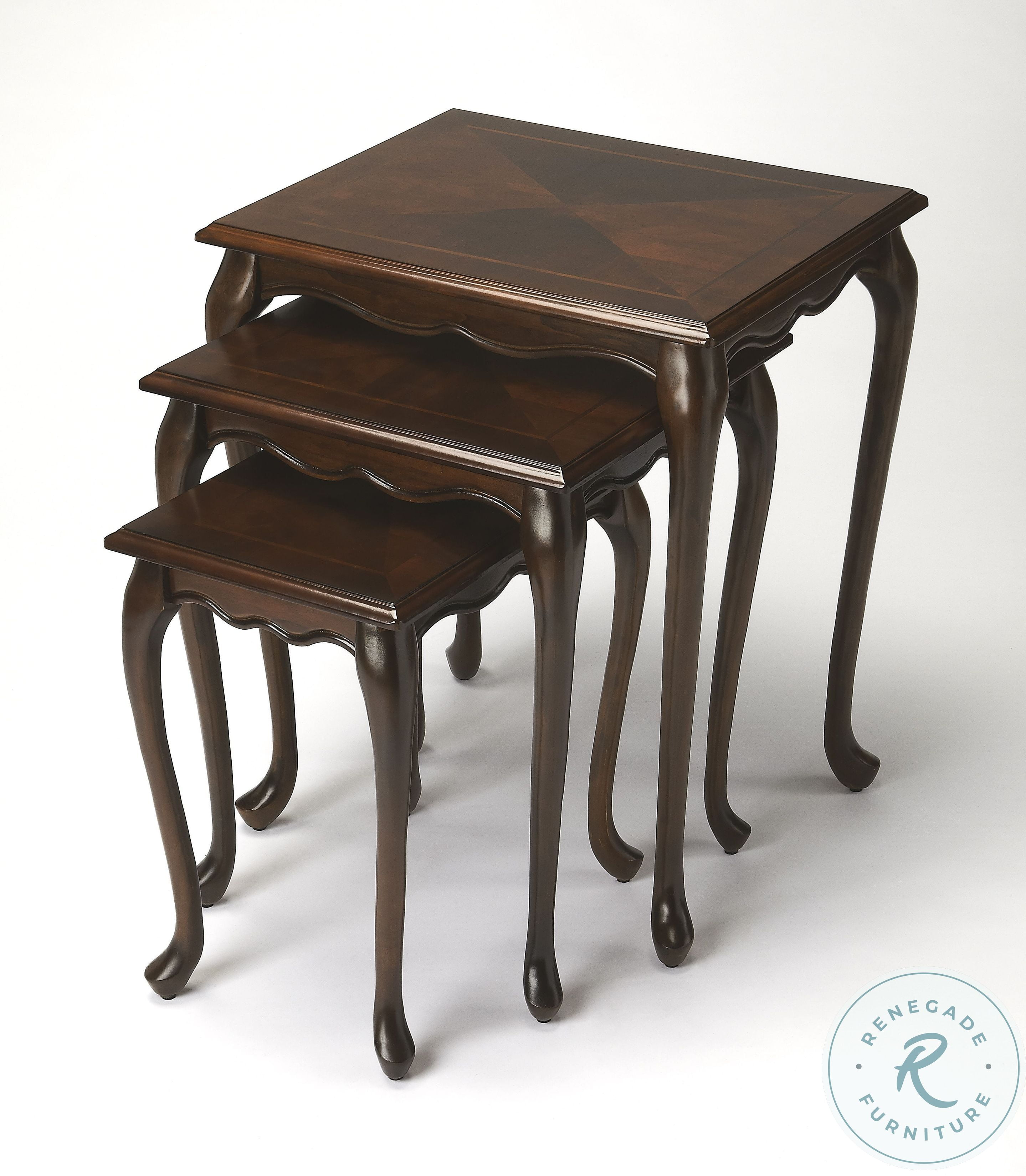 Antique Gold Nesting Tables From Butler 4012226 Coleman Furniture