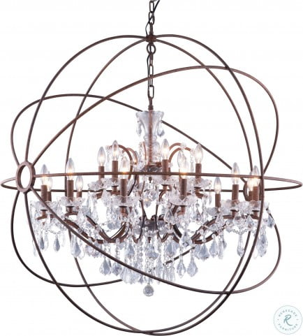 geneva 43 5 rustic intent 18 light chandelier with clear royal cut crystal trim