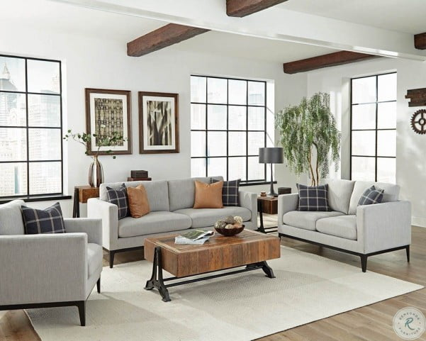 apperson light gray sofa