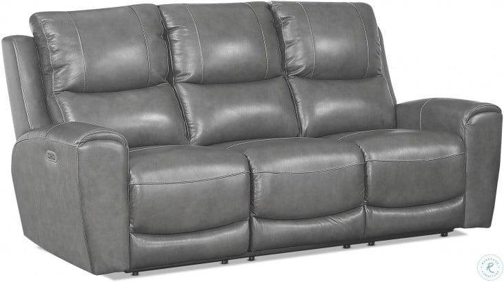 laurel grey power reclining sofa