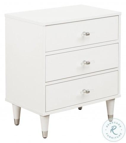 modern white glam nightstand