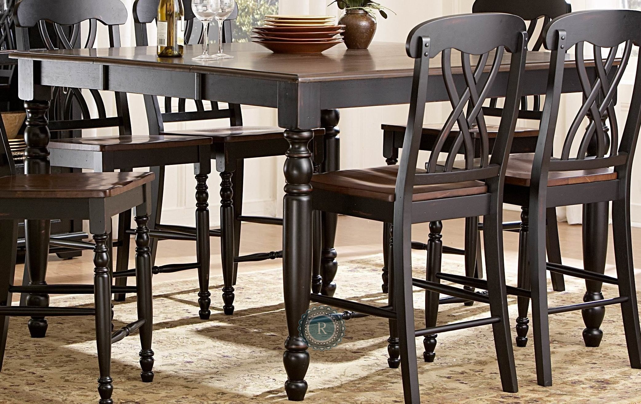 Ohana Black Counter Height Table From Homelegance 1393bk