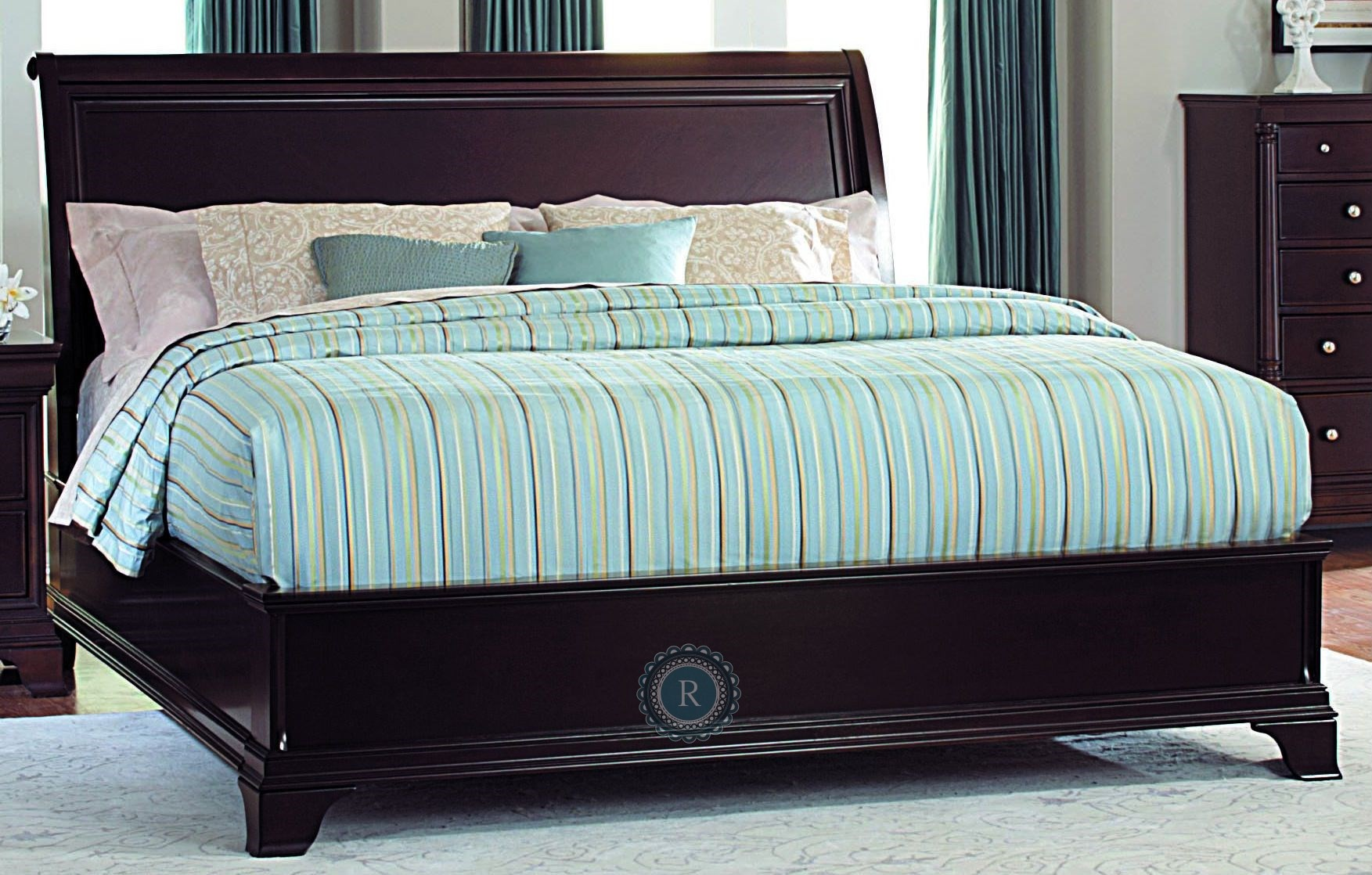 Inglewood Cal King Sleigh Bed From Homelegance Lpk
