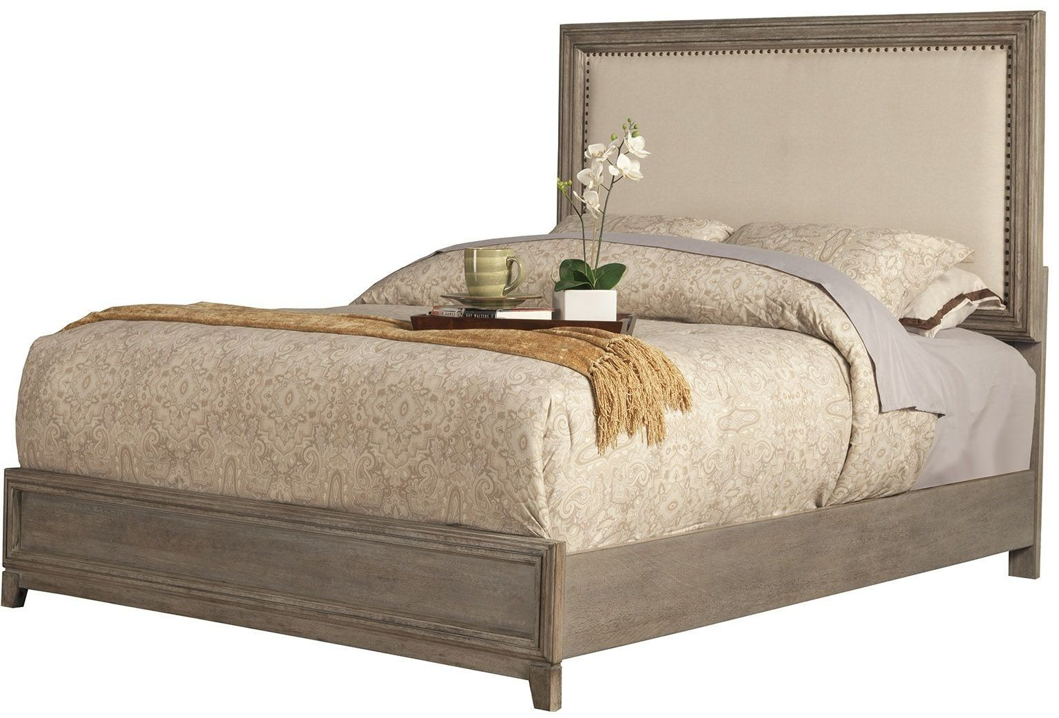 Camilla Grey Upholstered King Panel Bed From Alpine
