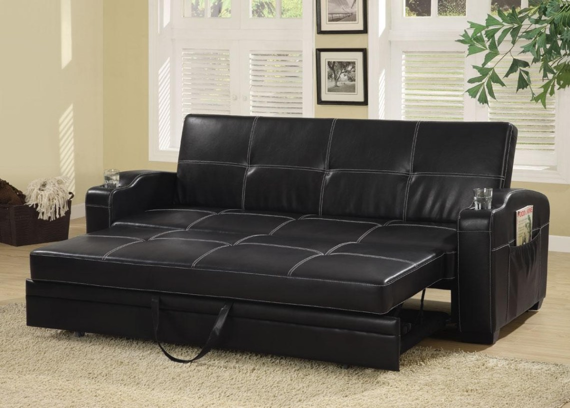 Image Result For Faux Leather Sofa Bed With Storage And Cup Holders