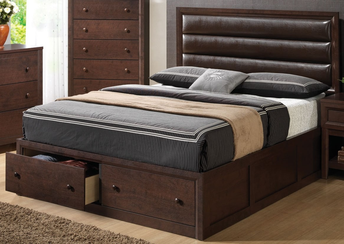 Remington King Upholstered Panel Bed From Coaster
