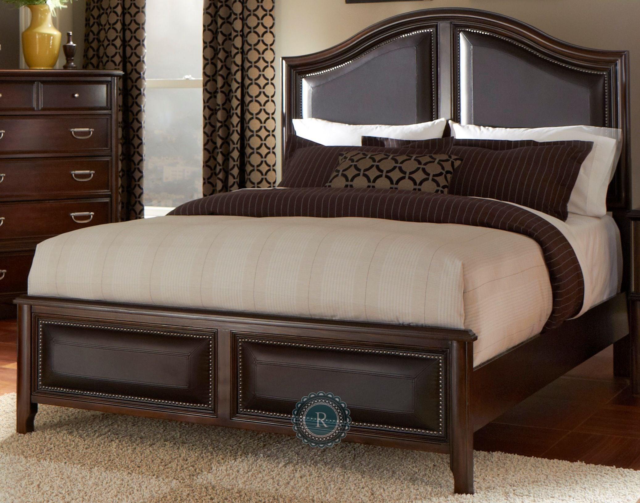 Beaux King Upholstered Panel Bed From Homelegance K