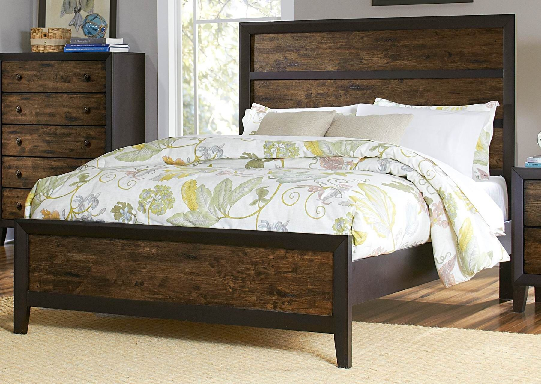 Arcola King Panel Bed From Homelegance K 1ek
