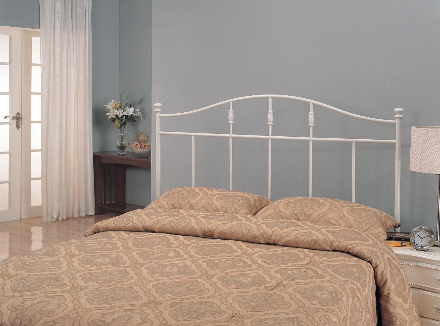 White Metal Twin Headboard 300183T From Coaster (300183T