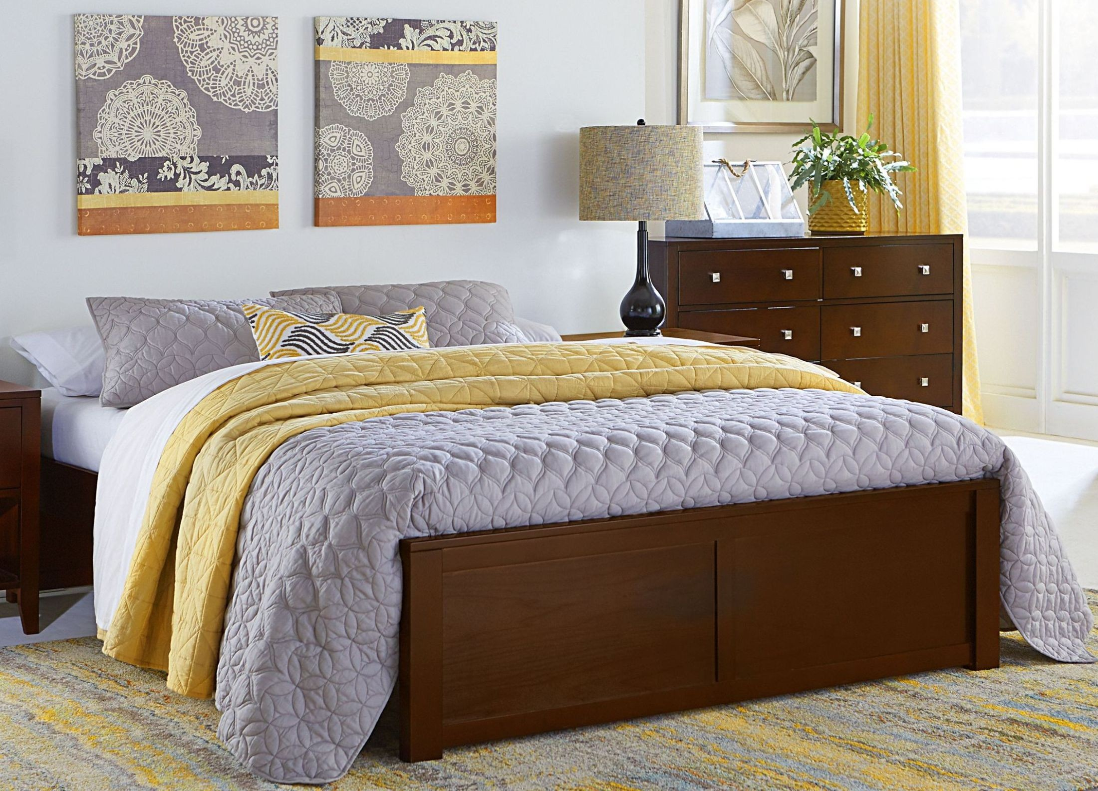 Pulse Cherry Queen Platform Bed From Ne Kids