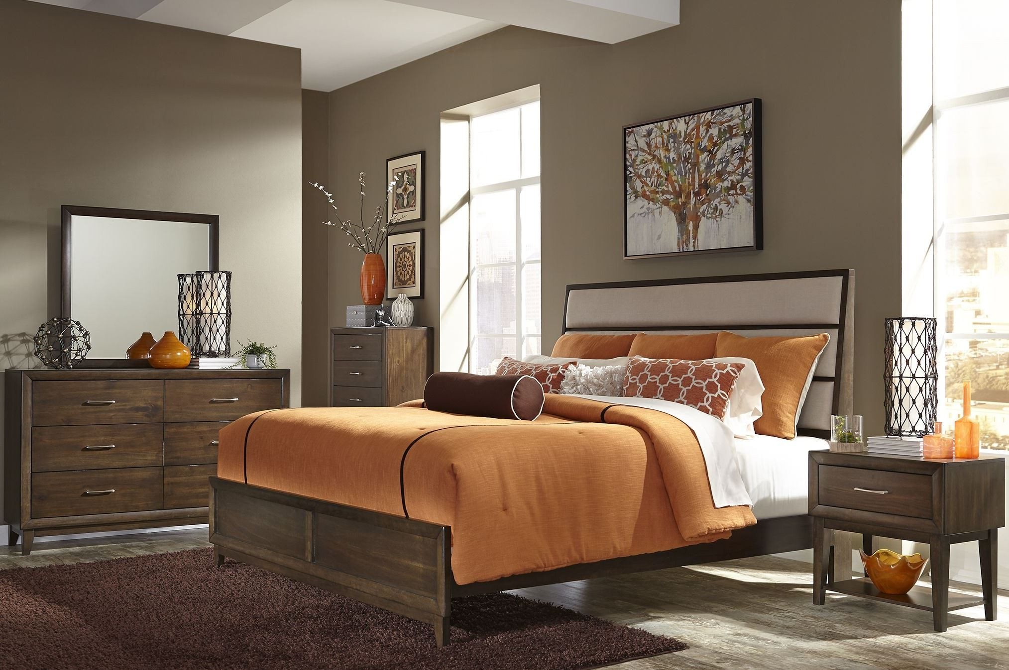 Hudson Square Espresso Panel Bedroom Set, 365-BR-QPB, Liberty