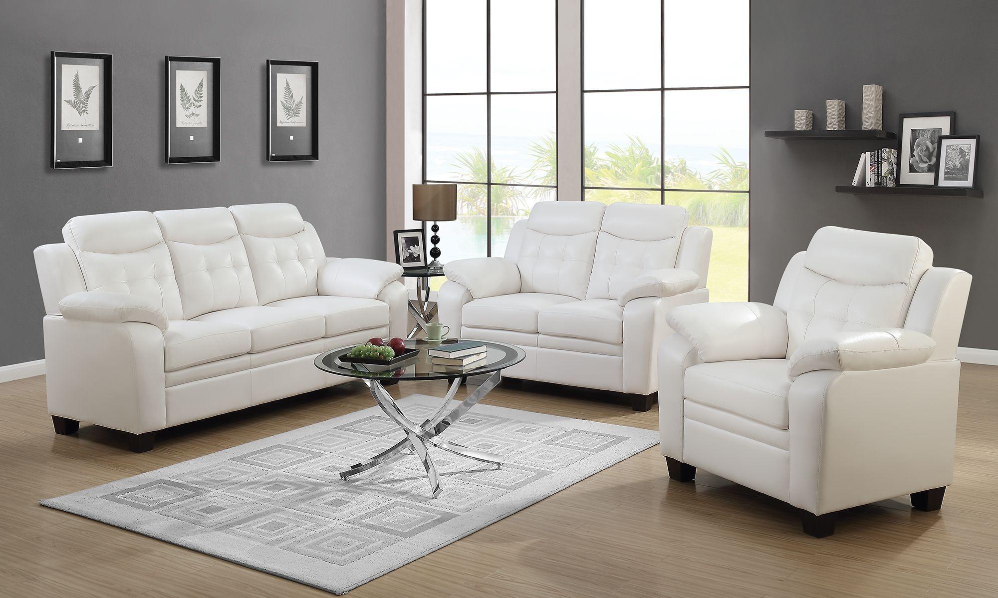 White Living Room Set