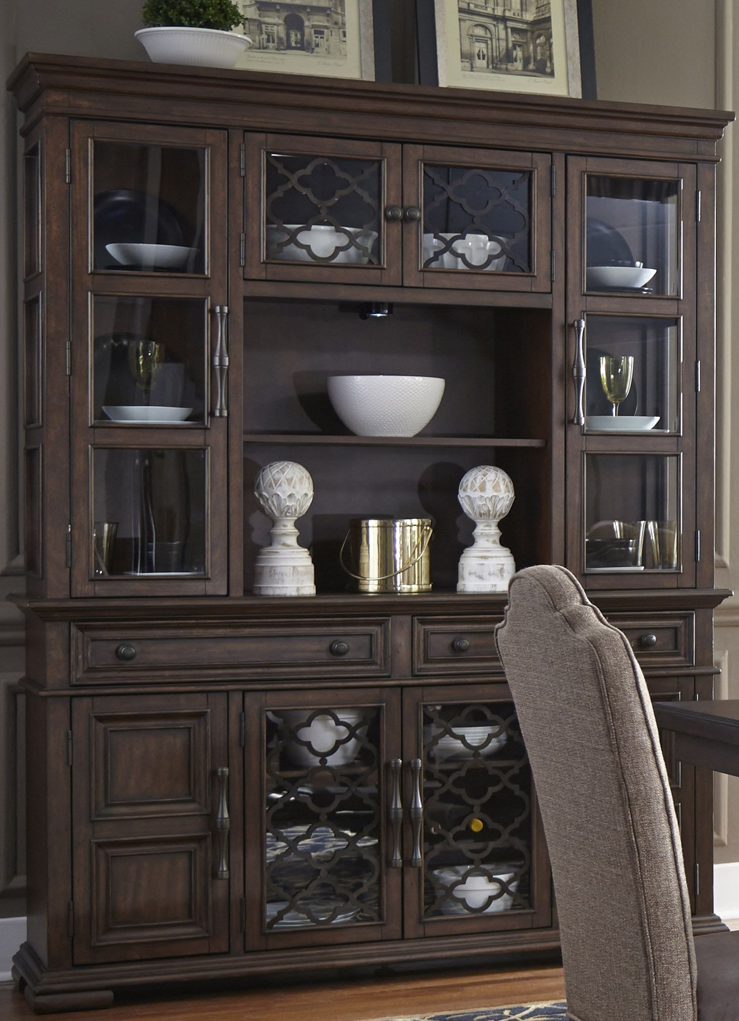 Lucca Brown Buffet With Hutch From Liberty Coleman Furniture