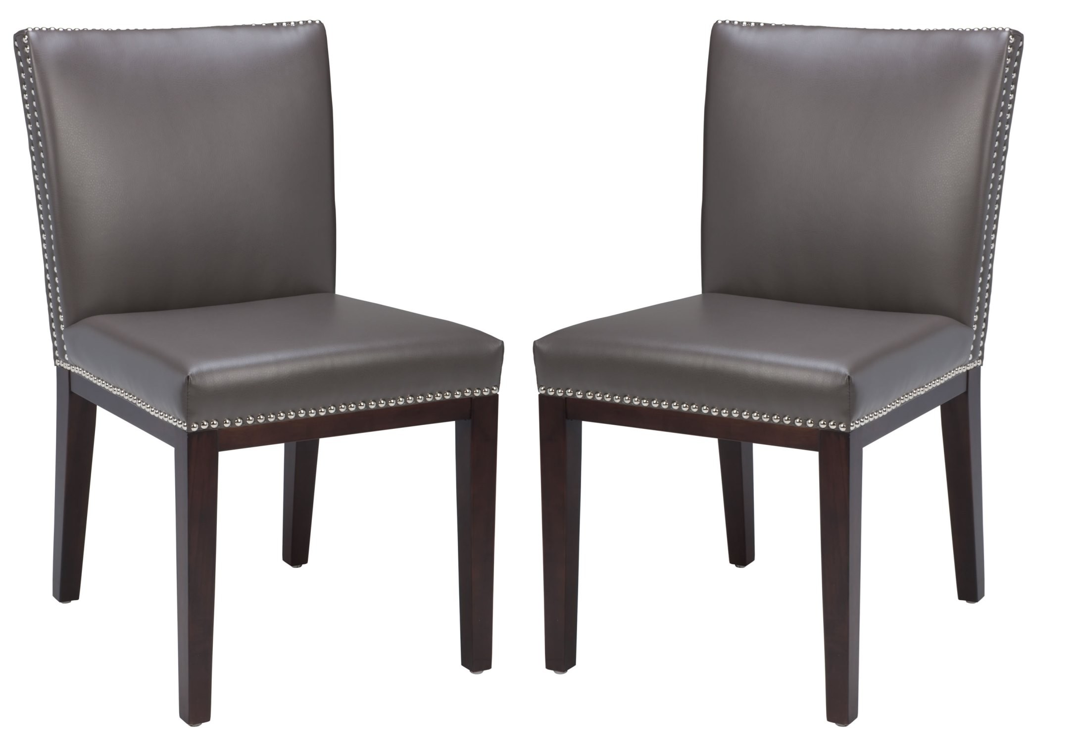 Gray Leather Dining Chairs