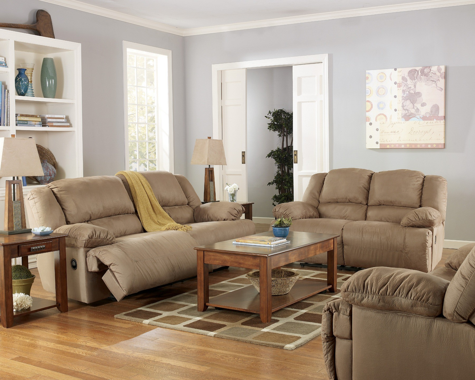 Hogan Mocha Reclining Living Room Set from Ashley  57802    Coleman     Hogan Mocha Reclining Living Room Set from Ashley  57802    Coleman  Furniture