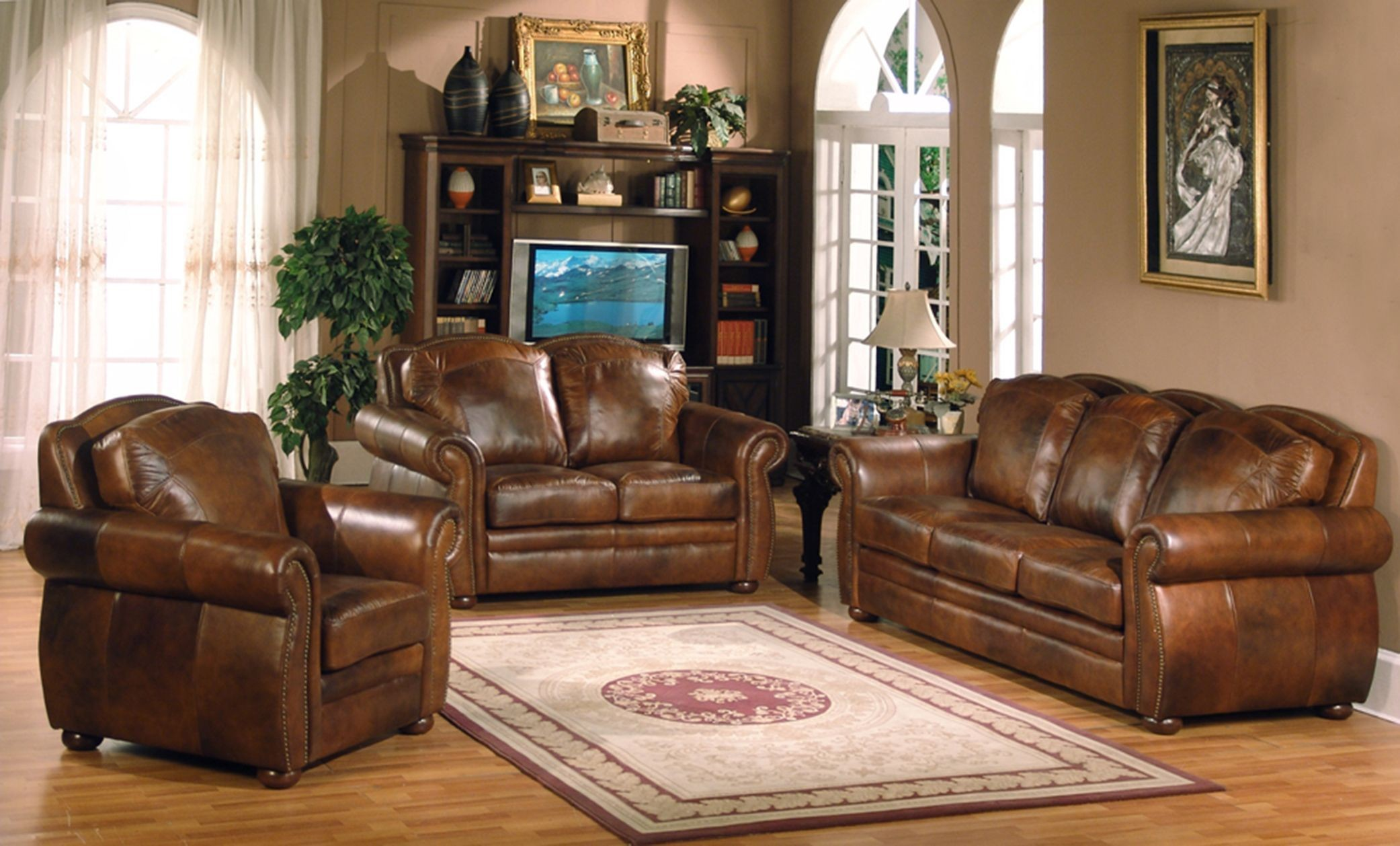Arizona Marco Living Room Set From Leather Italia 1444
