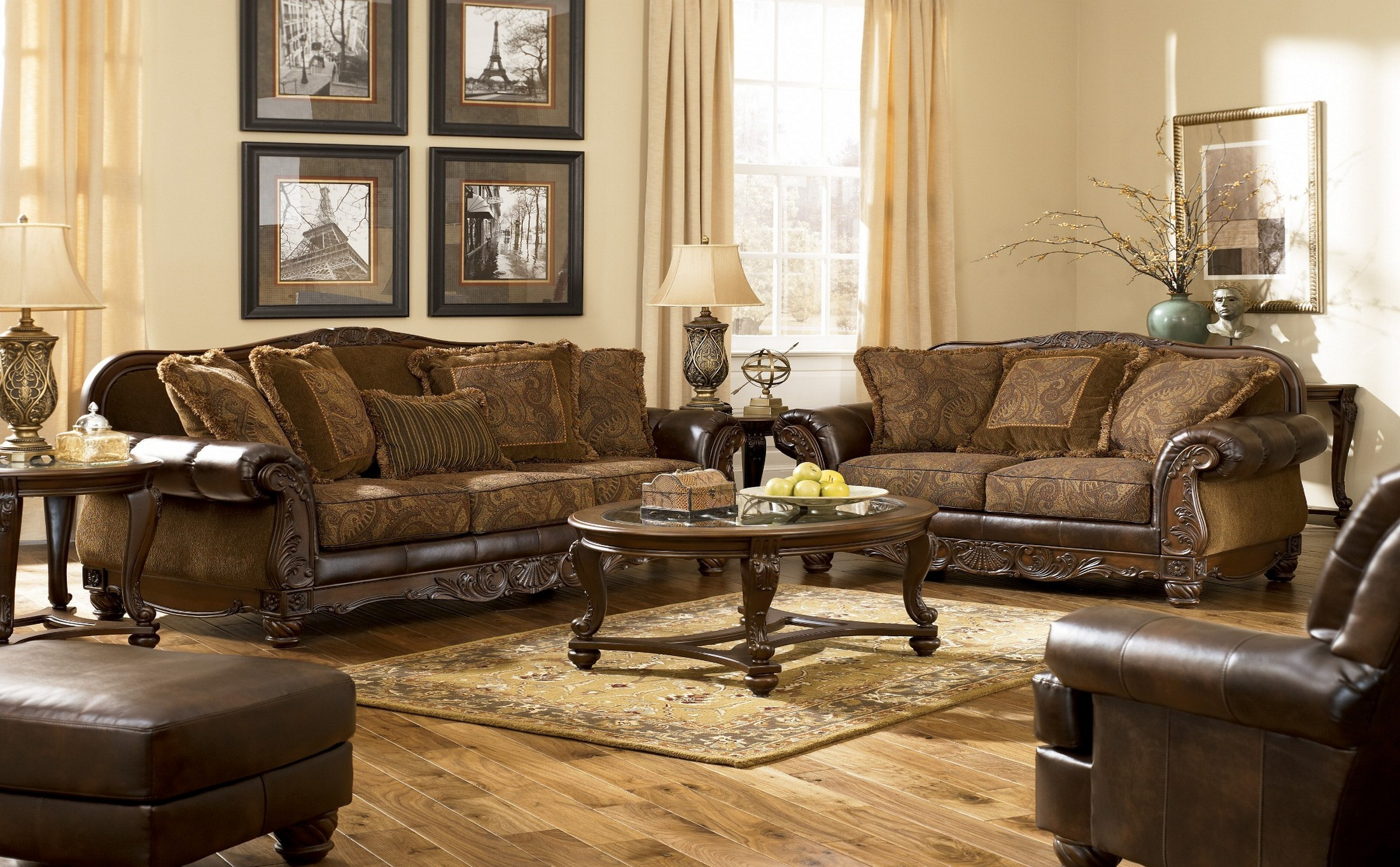 Fresco DuraBlend Antique Living Room Set From Ashley