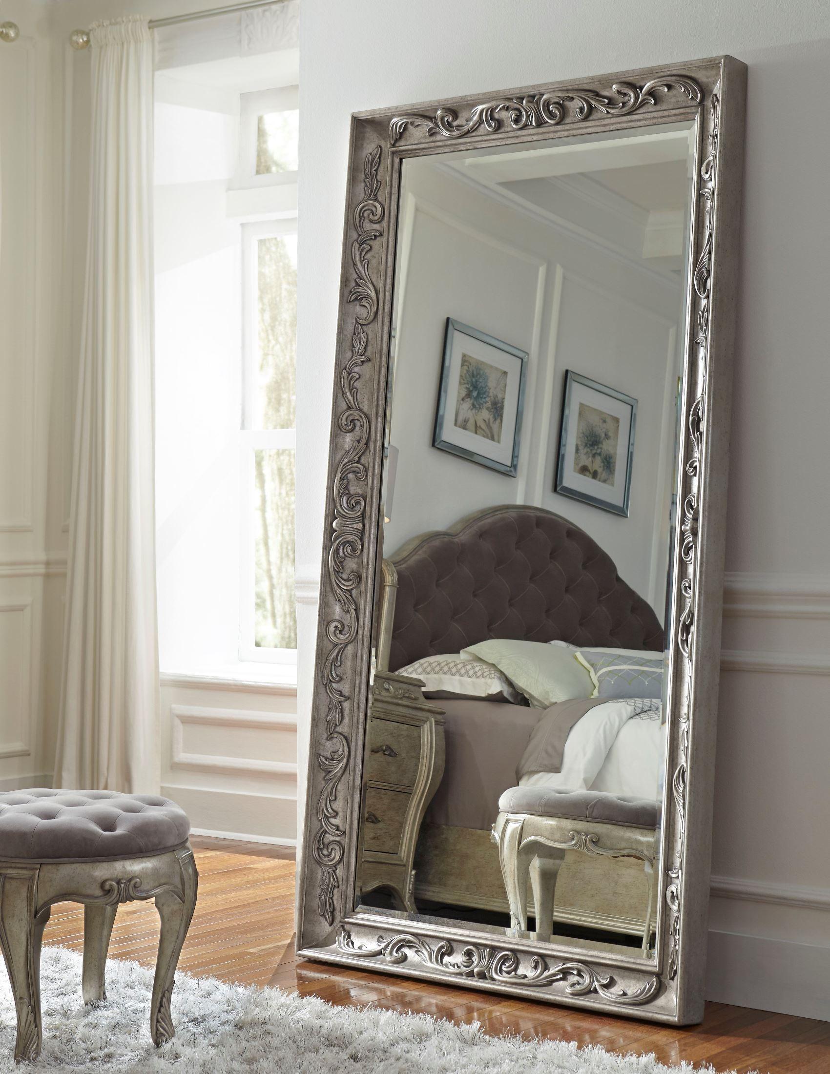 Rhianna Silver Patina Floor Mirror From Pulaski