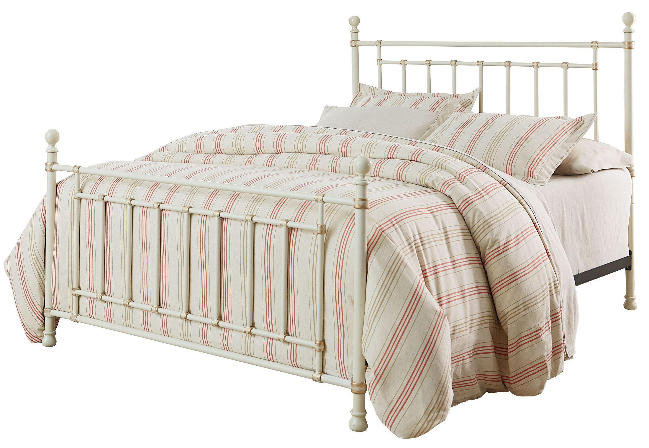Bennington White Queen Metal Bed From Standard Furniture