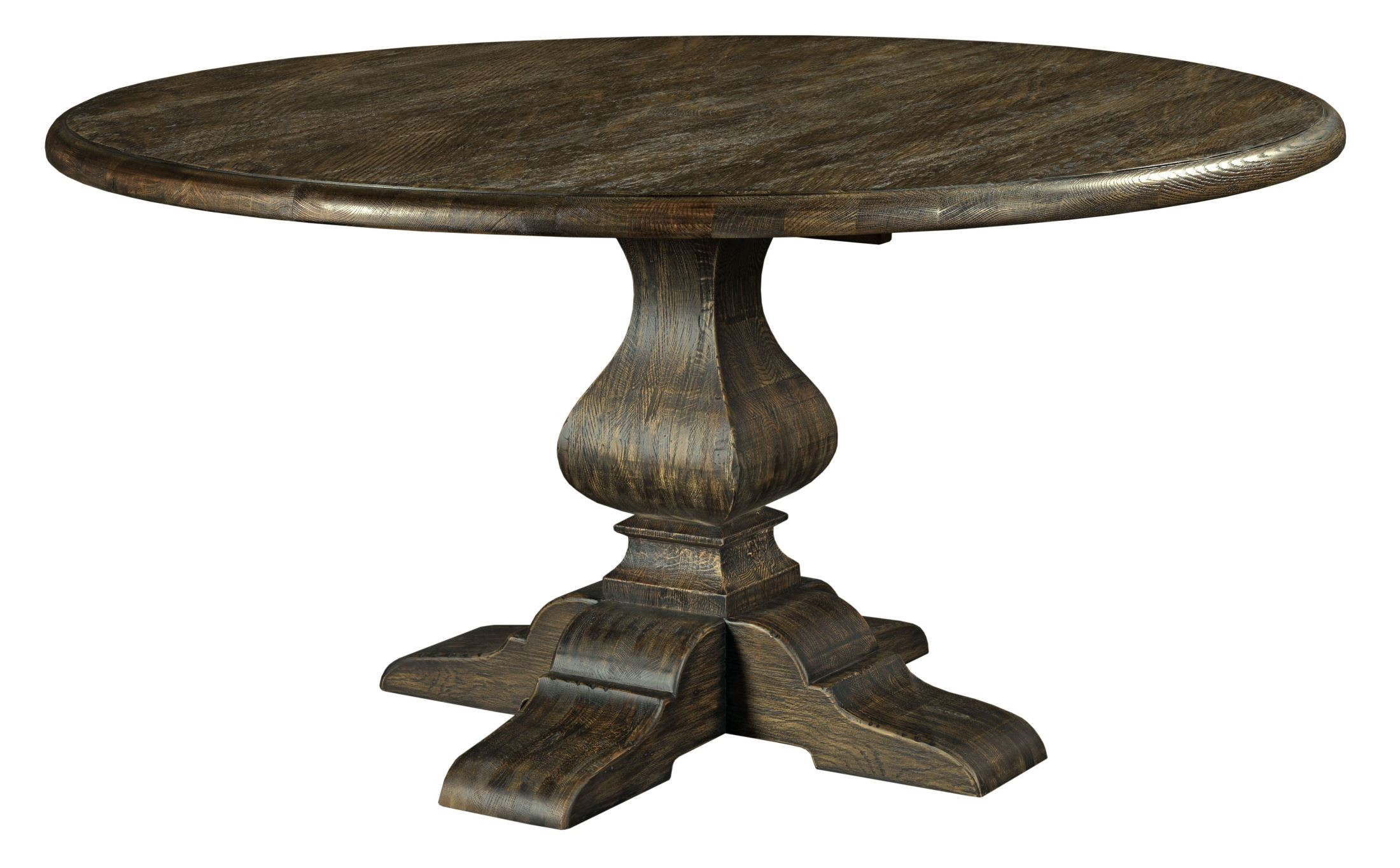"""Artisans Shoppe 60"""" Black Forest Round Dining Table With"""