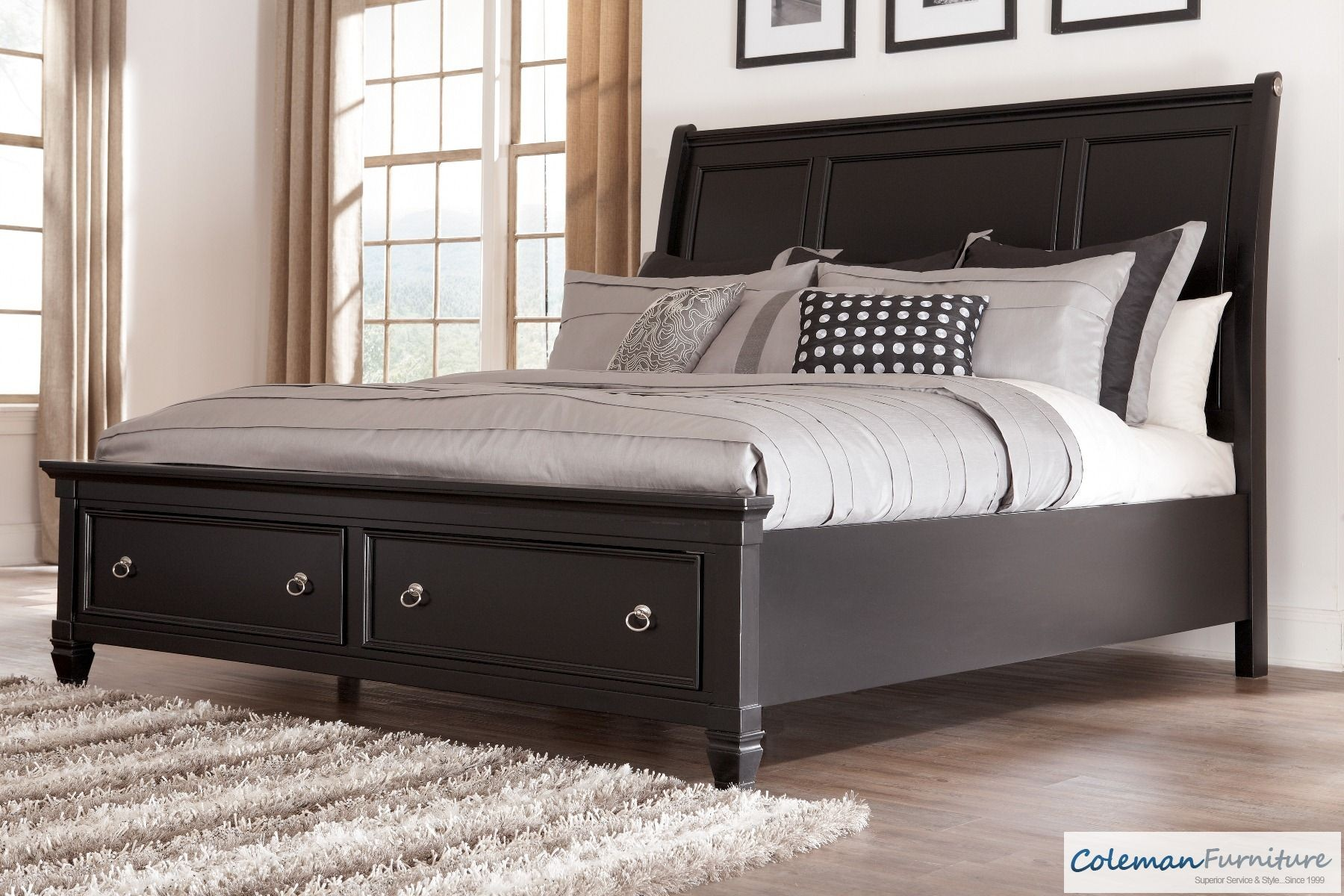 Greensburg Queen Storage Sleigh Bed From Ashley B671 74