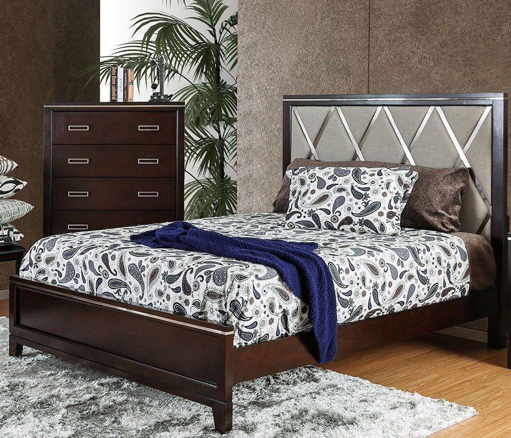 Winnifred Cherry King Upholstered Panel Bed From Furniture