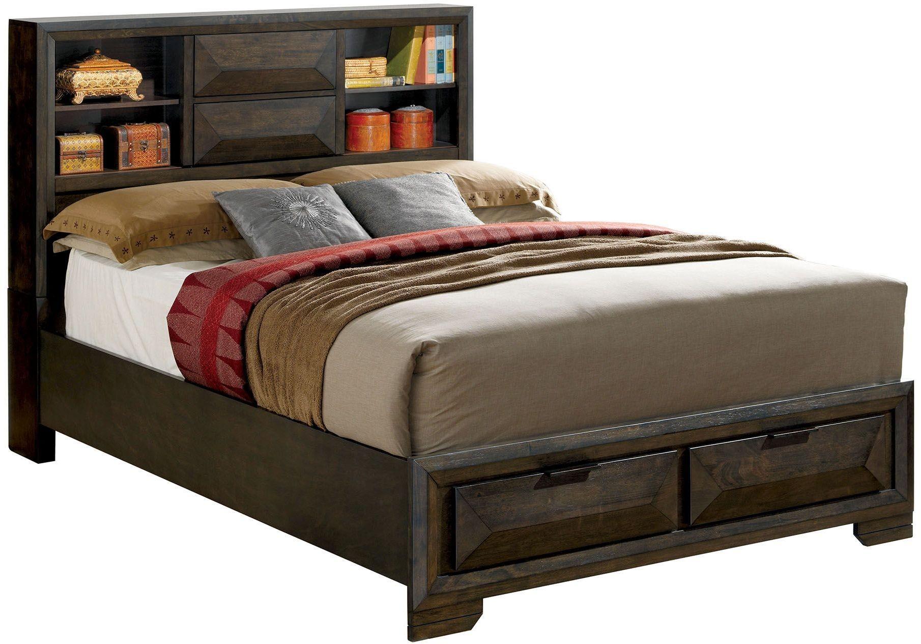 Nikomedes Espresso King Platform Storage Bed Cm Ek Bed