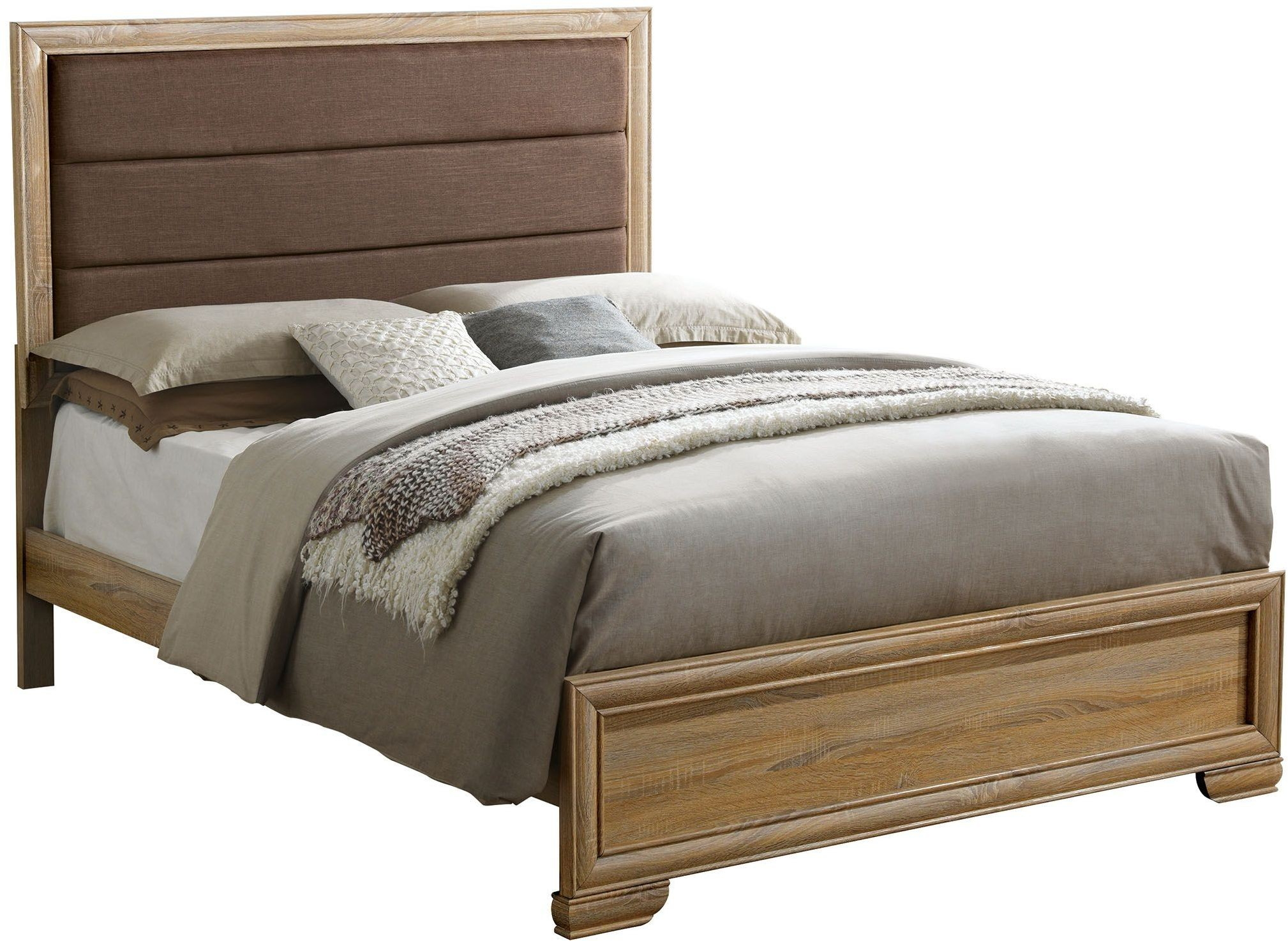 Renee Natural Cal King Upholstered Platform Bed From